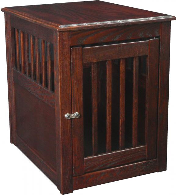 Dynamic Accents Medium OAK End Table Crate - Mahogany