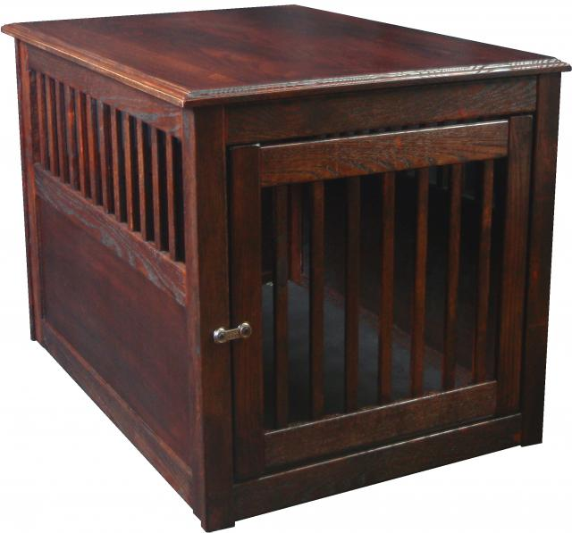Dynamic Accents Large OAK End Table Crate - Mahogany